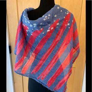 American Eagle USA Flag Scarf